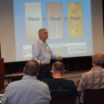 John Bouldin- PhD- featured speaker- starts his presentation on engineered wood products